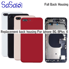 5pcs Replacement For iphone 8 Plus X XR XS MAX 8G Back Middle Frame Chassis Full Housing Assembly Battery Cover with Flex Cable