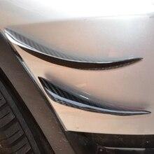 New 4Pcs Universal C Style Carbon Fiber Front Bumper Canards Shark Fins Deflectors Lip Kit Canards Splitters
