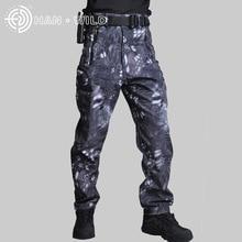 Mens Pants Windbreaker Camouflage-Pants Military Hiking Hunting Tactical Waterproof Outdoor Camping