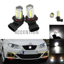 Светодиодный ные светильник льные лампы для Seat Ibiza 2009 2010 2011 2012, Стайлинг автомобиля светодиодный ные противотуманные фары, противотуманные ...