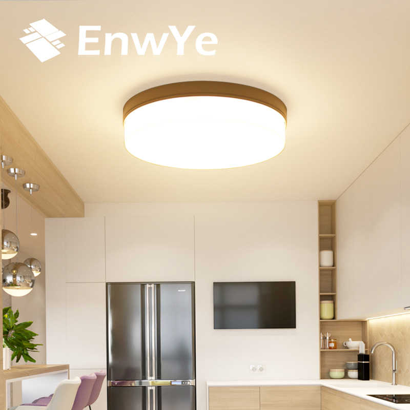 EnwYe 6W 9W 13W 18W 24W 36W 48W LED Round Panel Light Surface Mounted leds ceiling down 85-265V lampada led lamp