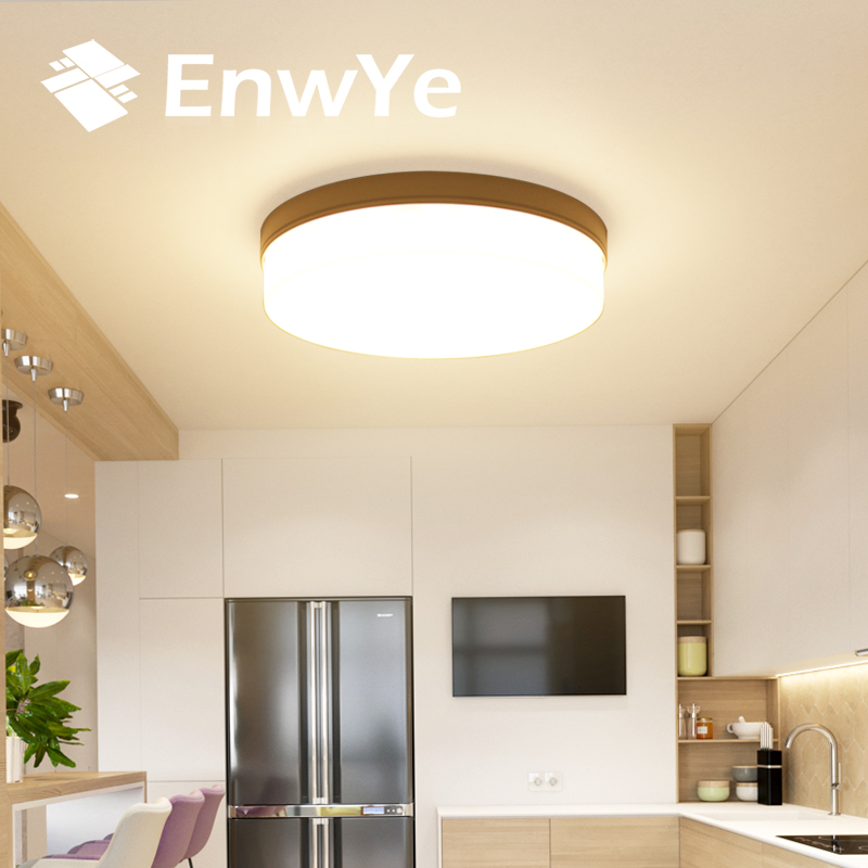 EnwYe LED Round Panel ceiling Light 18W 24W 36W 48W Surface Mounted 110V 220V lamp Suitable for bedroom living room kitchen