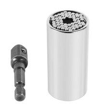 Universal Torque Wrench Head Set Socket Sleeve 7-19mm Power Drill Ratchet Bushing Spanner Magic Key Grip Hand Tools