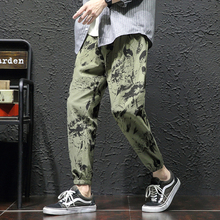 Camo Pants Men Fashion Printed Casual Drawstring Trousers Man Streetwear Track Pants Hip Hop Loose Joggers Sweatpants Men M-5XL kids patched tee with drawstring camo pants
