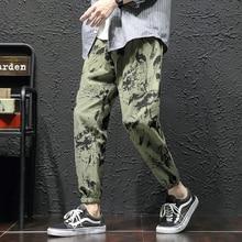 Camo Pants Men Fashion Printed Casual Drawstring Trousers Man Streetwear Track Pants Hip Hop Loose Joggers Sweatpants Men M-5XL цена 2017