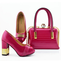 New Arrival Shoes and Bag Set African Sets 2019 Nigerian Women Party Pumps Luxury Shoes Women Latest Shoes and Matching Bags