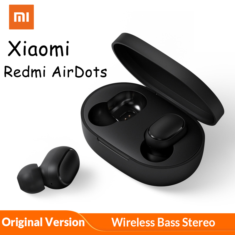 Xiaomi Redmi AirDots TWS Wireless Bluetooth 5.0 Charging <font><b>Earphone</b></font> <font><b>8D</b></font> Bass Stereo <font><b>Earphones</b></font> With Mic Handsfree Earbuds AI Control image