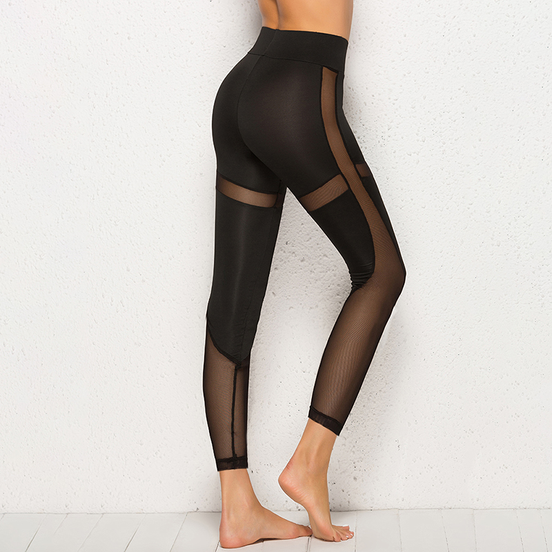 Women Mesh Black Transparent Comfortable Pant Sexy Slim Fit Leggins Workout Leggings For Women Activewear Ropa Mujer