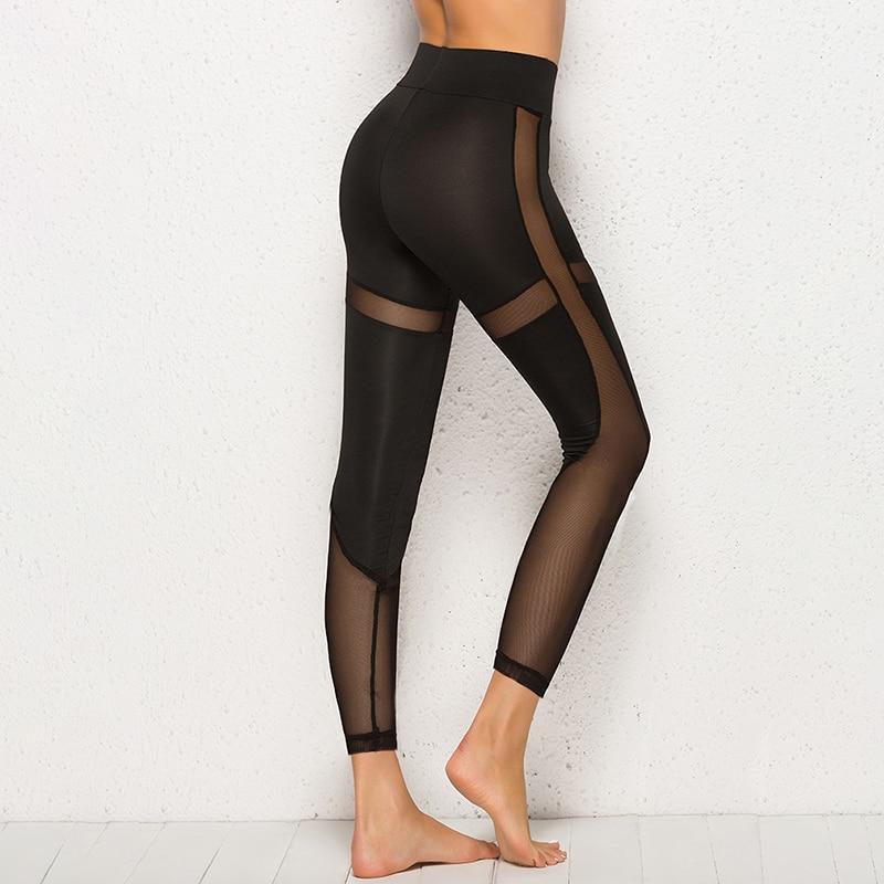 Women Mesh Black Transparent Comfortable Pant Sexy Slim Fit Leggins Workout Leggings For Women Activewear Ropa Mujer