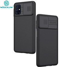 for Samsung Galaxy M31S Phone Case,NILLKIN Camera Protection Slide Protect Cover Lens Protection Case for Galaxy M31S