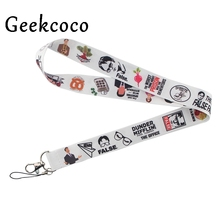 The office movie New arrive hot phone Lanyard Neck Strap with clip For keychain ID Card Holder key Chain for party gifts J0485