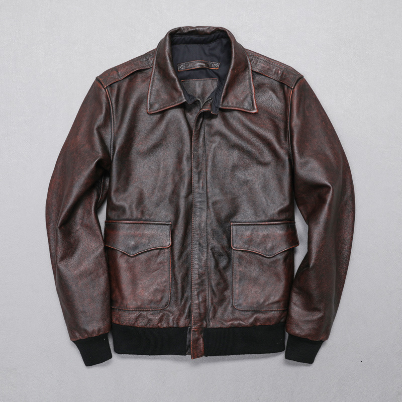 TOP 2020 New Arrival Men Genuine Leather Jacket Casual Cow Skin Jackets Cheap Sale Russia Free Shipping