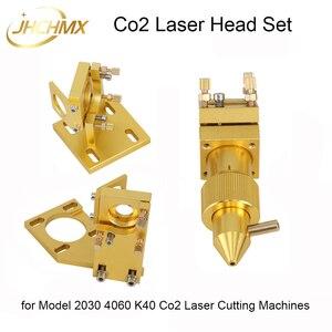 Jhchmx alta qualidade conjunto de cabeça do laser co2 para o modelo 2030 4060 k40 pequenas máquinas corte a laser co2 cabeça acessórios