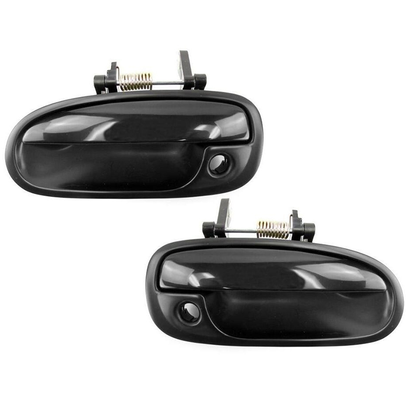 1996-2000 For Front Outside Door Handle Set 2PCS Honda Civic Smooth Black DS556