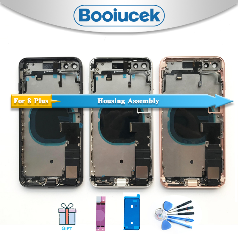 High Quality For Iphone 8 Plus 8G I8 X Back Housing Full Assembly Battery Cover Door Rear Middle Frame Chassis With Flex Cable