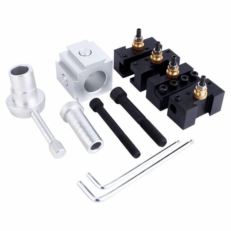 Мини токарный станок с ЧПУ, держатель инструмента для быстрой замены, держатель для резца, набор винтов, набор для расточки, поворотная поверхность, держатель, гаечный ключ