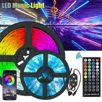 Musik LED Licht Streifen KTV Dekoration RGB Band beleuchtung RGB Wasserdicht Hintergrund Lampe 5m 10m Streifen Bluetooth Remote control
