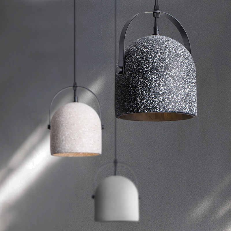 nordic design terrazzo cement ceramic pendant light farmhouse kitchen island lighting indoor home dinning table light fixture