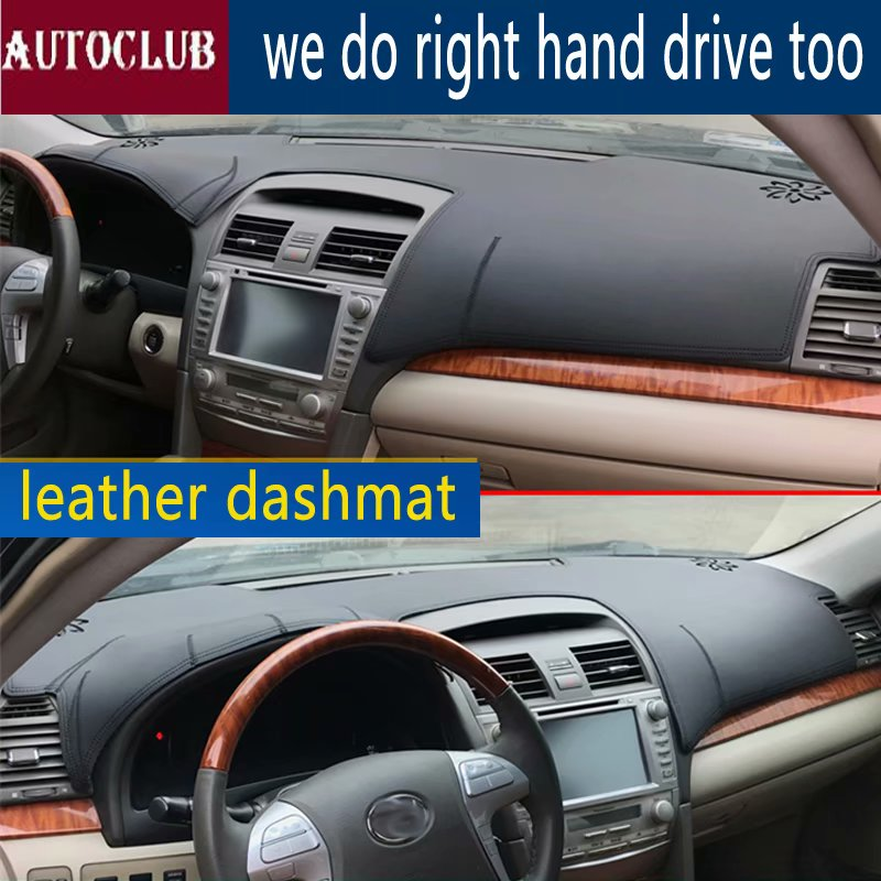 Pour Toyota Camry XV40 2006-2011 cuir Dashmat tableau de bord couverture Pad Dash Mat parasol tapis couverture 2007 2008 2009 2010