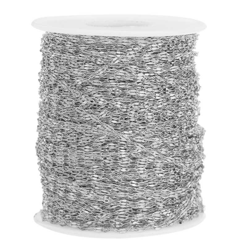 2m Edelstahl Flach Oval Lip-form Wasser-welle Kette für Anhänger Halskette DIY Schmuck, Die Entdeckungen großhandel Viel Groß