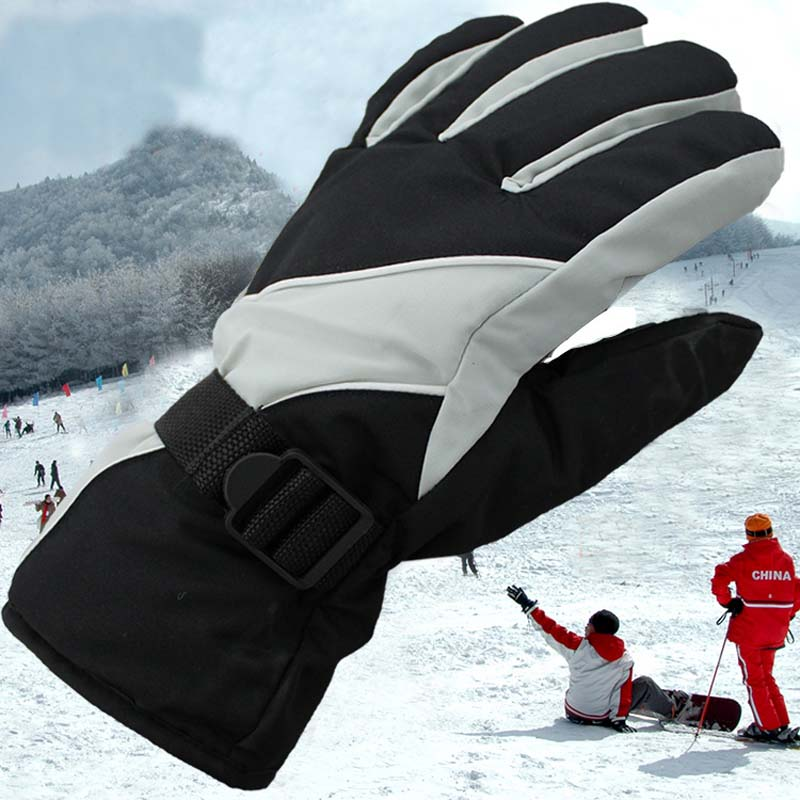 Winter Outdoor Men's And Women's Ski Gloves Warm Waterproof And Windproof Non-slip Gloves