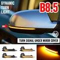 Комплект из 2 предметов, для Audi A4 A5 S5 B8.5 RS5 RS4 динамический прокрутки светодиодный поворотник светильник последовательного Зеркало заднего в...