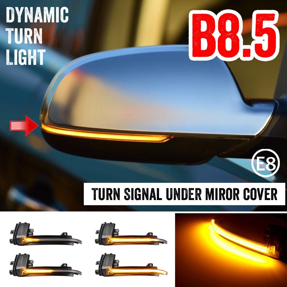 2 peças para audi a4 a5 s5 b8.5 rs5 rs4 rolo dinâmico led turn signal light sequencial espelho retrovisor indicador blinker luz|Lâmpada de sinal|   -