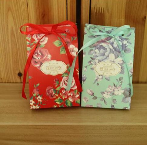 Nouveau bonbons boîte fête cadeau sacs papier doux boîte de mariage scène décoration faveur boîtes baptême bonbons conteneur 100 pcs/lot
