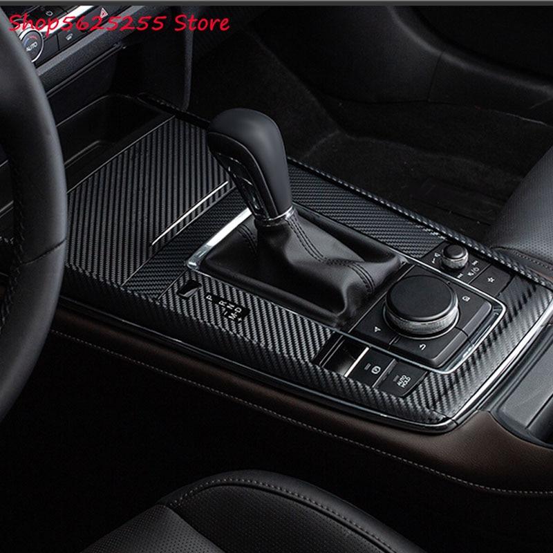 Cambio de marchas, marco de Panel decorativo, cubierta, pegatina para Mazda CX30 CX-30 2020 2019, modificación Interior, decoración de coche