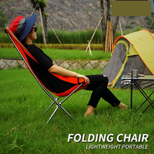 Camping Fishing Beach Chair Weight Capacity 300kg Outdoor Portable Folding Chair Camping Ultra Light Aluminum Alloy Moon Chair