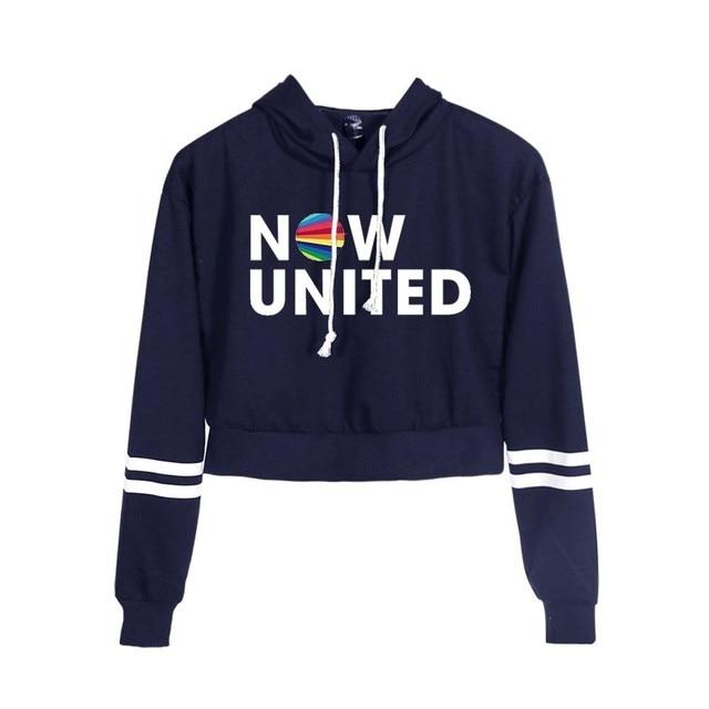 Now United Crop Top Hoodies Harajuku Japanese Anime Uzumaki Printed Hoodie Women Streetwear Fashion Cropped Sweatshirt Coat 3