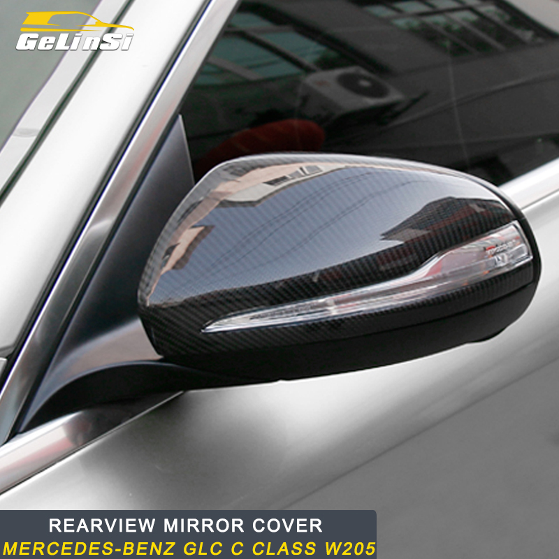 Gelinsi for Mercedes Benz C Class W205 2016 2019 Auto Car Real Carbon Fiber Side Rearview Mirror Replacement Frame Trim Cover|Mirror & Covers|   - title=