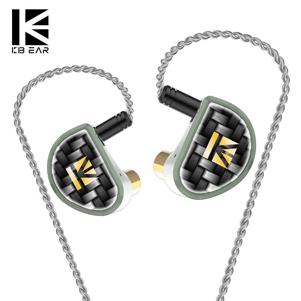 KBEAR Diamond Diamond-Like Carbon (DLC) Coated PET Dynamic Driver  In Ear Earphone Earbuds With CNC Metal Shell 2PIN Cable