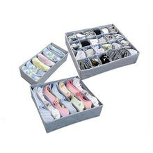 1 pc bielizna organizer biustonoszy schowek 3 rozmiary szary szuflady organizery do szafy pudełka na bieliznę szalik skarpetki organizator tanie tanio HELLOYOUNG Włókniny tkaniny 33*31*9 5 Storage Boxes Modern Clothing Organizer Underwear Bra Socks Organizer Storage Boxes