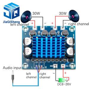 Amplifier-Board Audio-Power TPA3110 Digital Stereo 8-26V 3A DC XH-A232 30W C6-001
