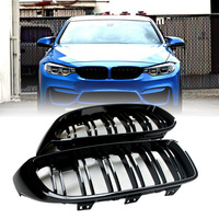Black 2pcs Set Grilles High Quality For BMW 4 Series F32 F33 F36 420i 428i 435i M4