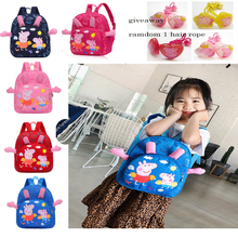 Peppa Pig Backpack Girl Backpack Cartoon Kindergarten School Bags Unisex Kids Satchel Children Bookbag Boy Student Schoolbag