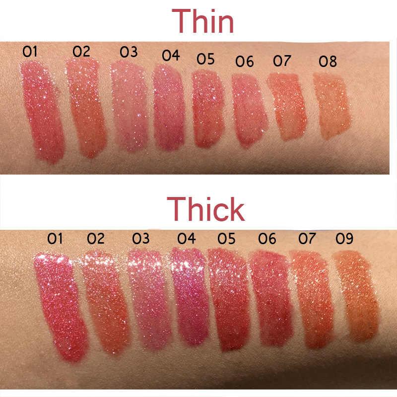8 Màu Đá Kim Cương Sáng Bóng Lipgloss Lắc Chân Nữ Dưỡng Ẩm 3D Chất Lỏng Son Môi Tint Sexy Son Trang Điểm Đan Long Lanh Son Bóng