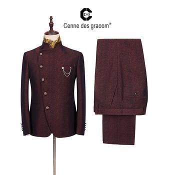 2020 Cenne Des Graoom New Men Suit Latest Design Costume Blazers Vests Pants Tailor-Made Suits Tuxedo For Wedding Party Grooms