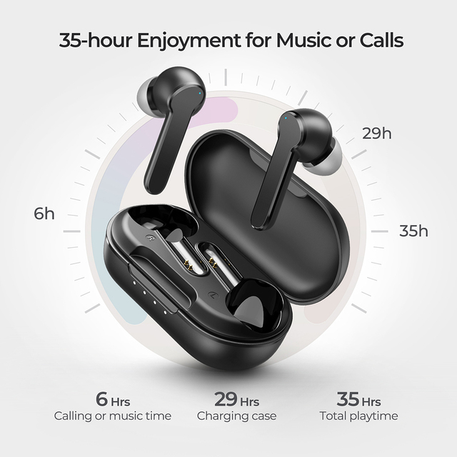 Mpow Mbits S TWS Bluetooth Earphones True Wireless Earbuds with CVC8.0 Noise Cancellng Mic Deep Bass IPX8 Waterproof for Phone 3