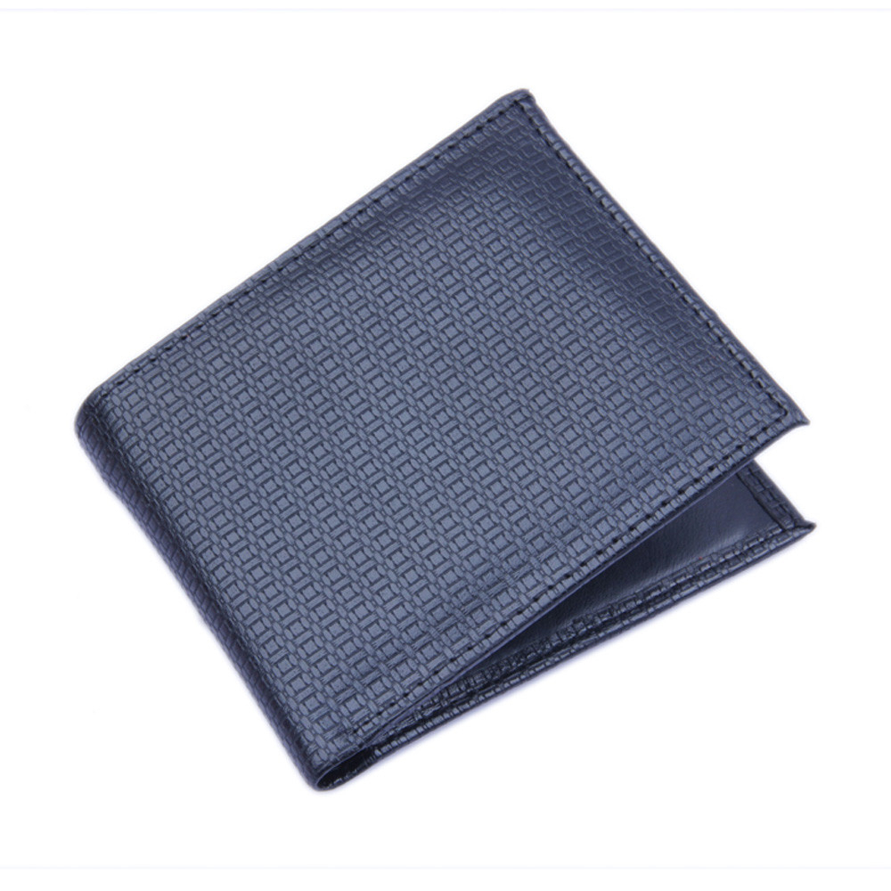 Luxury Casual Men's Wallets Pu Leather Fashion Short Slim Bifold  Card Holder Business Soild With Coin Pocket Purses Male 816