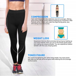 Image 3 - 2019 Women Sauna Weight Loss Slimming Pants Workout Neoprene Pants Side Pocket Heat Thermo Sweat Legging casual trousers clothes