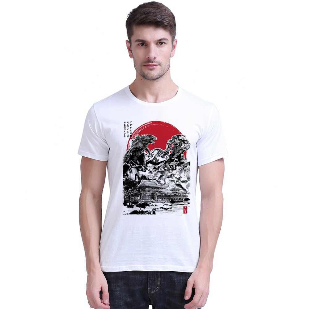 Men T Shirts Pacific Rim Attack On Japanese Temple Graphic Vintage Camisa 100% 180gsm Combed Gift Short Sleeve T-Shirts Top Tee