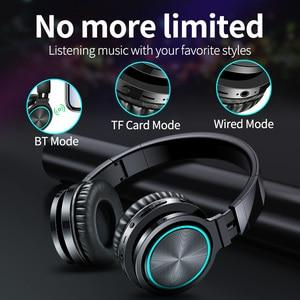 Image 3 - B12 אלחוטי Bluetooth אוזניות 5.0 מתקפל סטריאו משחקי אוזניות 7 צבע LED אור אוזניות עבור מחשב מחשב נייד מחשב