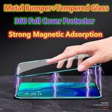 360 Cover For Xiaomi Mi 8 9 SE 10 Pro Coque For Xiaomi Mi Max 3 Mix 2S Metal Magnetic Case Mi 6X CC9E A3 A5 F1 Glass Funda Shell