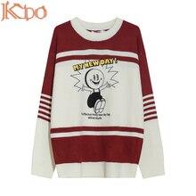 Man Sweater Knitwear Neck-Clothing Oversized Long-Sleeve Fashion Autumn/winter XXL Round