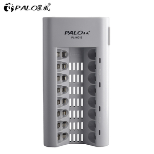 Image 2 - 8 slots AAA AA battery chargers LED light smart battery charger for NI MH aa aaa chargers US UK EU AU plug fast charger