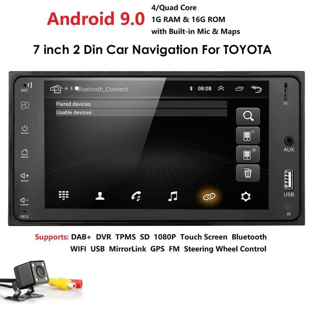 Android 9.0 2 Din Auto radio Multimedia Video Player Universele auto Stereo GPS KAART Voor toyata VIOS CROWN CAMRY HIACE PREVIA COROL
