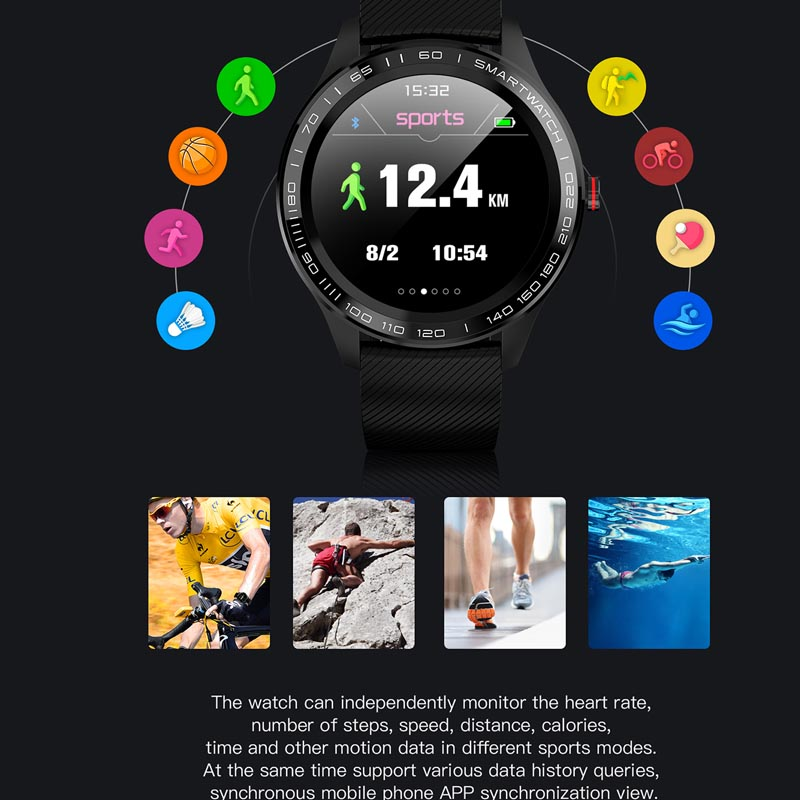 Image 5 - Greentiger ECG PPG L9 Smart Watch IP68 Waterproof Multiple Sports Heart Rate Bluetooth Smartwatch Blood Pressure oxygen VS L5 L7-in Smart Watches from Consumer Electronics