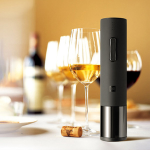 Image 5 - Huohou Automatic Red Wine Bottle Opener Electric Corkscrew Foil Cutter Cork Out Tool For Xiaomi Smart Home Kits